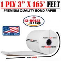3″ 165FT – 1 Ply Bond Paper (50 Rolls) Best Price EMerchant