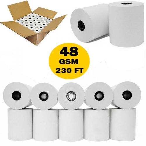 3 1/8 x 230 thermal paper roll 50 pack Bpa Free Paper for TM-T88III, TM-T88IV, TM-T88V, TSP100, CT-S300, CT-S2000, M129B, M129C