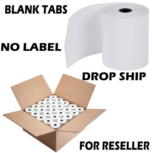 Reseller Item 3 1/8 x 230' thermal receipt paper 50 rolls | More Paper | + Free Shipping - Drop Ship Thermal Paper