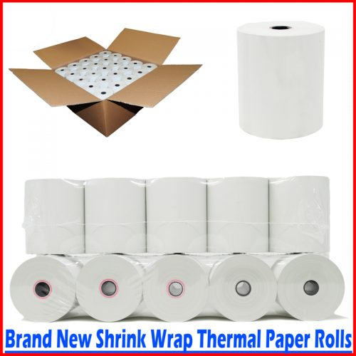 thermal paper rolls 3 1 8' x 230 50 new rolls